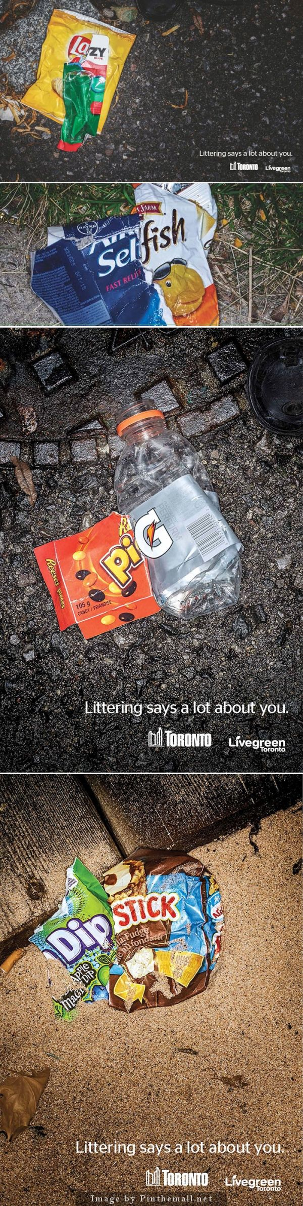Toronto's Clever Anti-Littering Ads Use Trash To Mock Litterers