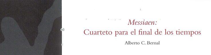 """47 Semana de Música Religiosa de Cuenca 2008 15 concierto Espacio Torner Olivier Messiaen y su """"Cuarteto para el fin de los tiempos"""""""