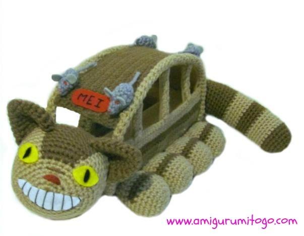 Amigurumi To Go!: Cat Bus Free Crochet Pattern With Video Tutorial