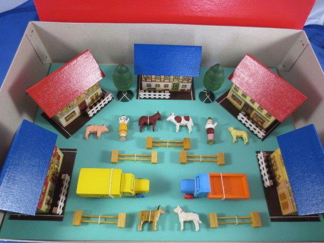 Miniatur Dorf Erzgebirge Seiffen LKW Tiere Kinder Spielzeug Bauernhof OVP *NEU*