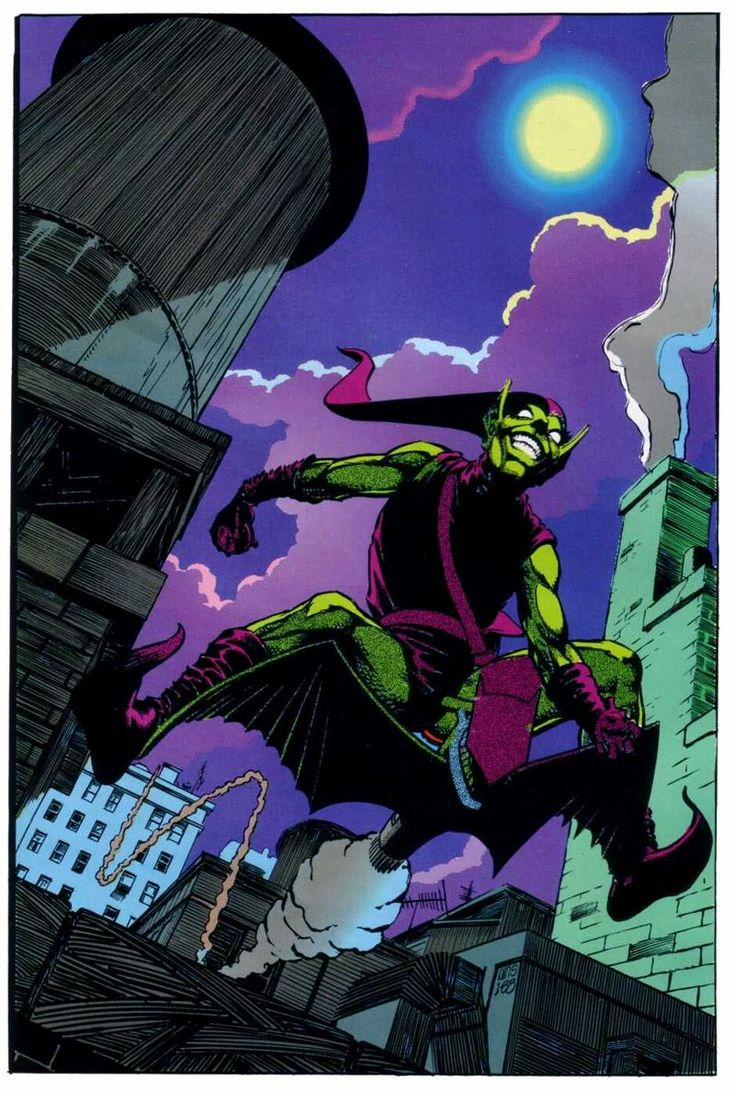 Green Goblin pin up from Marvel Fanfare #45 by Paul Smith
