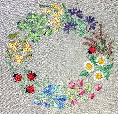 Summer wreath kit | The French Needle | French Needlework Kits, Cross Stitch, Embroidery, Sophie Digard