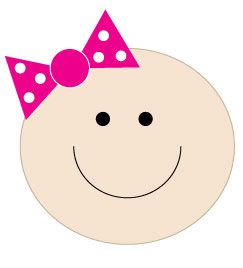Free baby girl clipart for a baby shower!