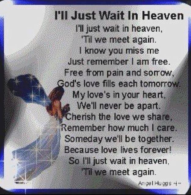 I'll Just Wait In Heaven