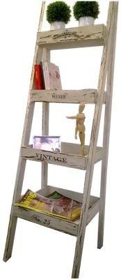 Repisa tipo escalera organizador biblioteca vintage arte for Repisa escalera
