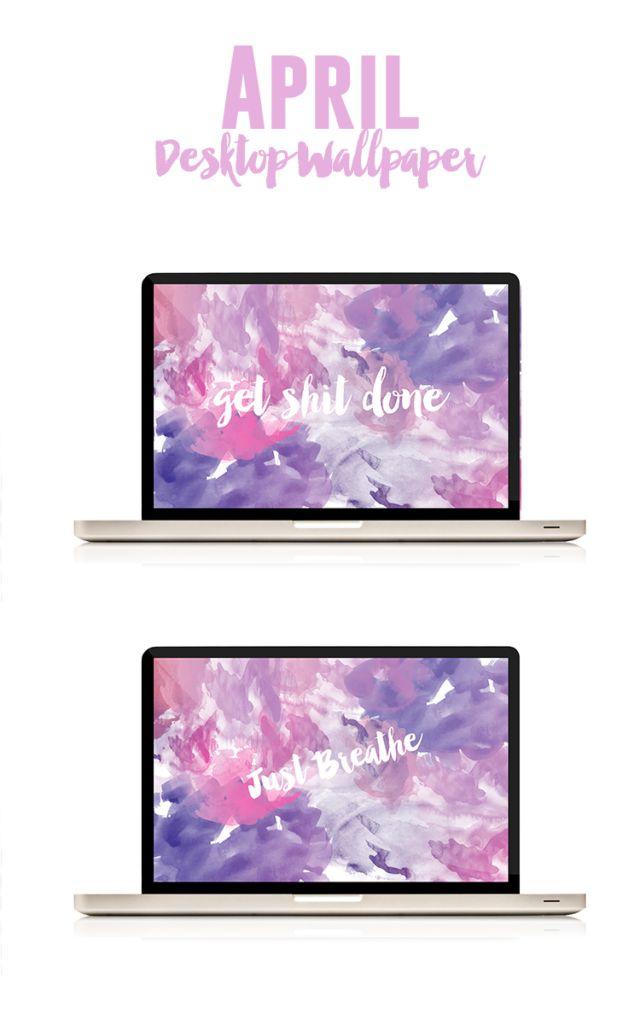 April Desktop Wallpaper - Pink on the Cheek