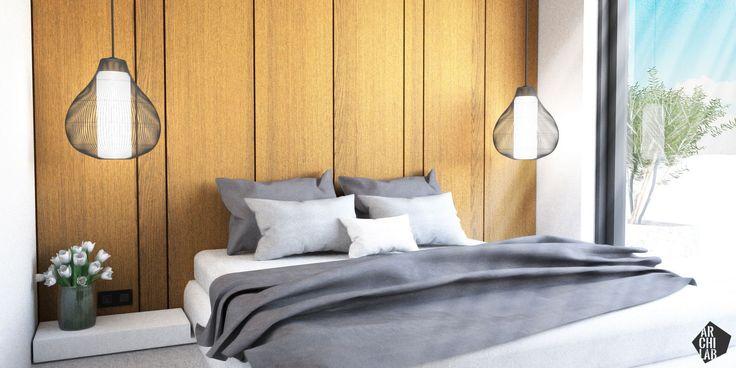 Návrh hlavnej spálne - Interiér Mýtna, Bratislava - Interiérový dizajn / Bedroom interior by Archilab