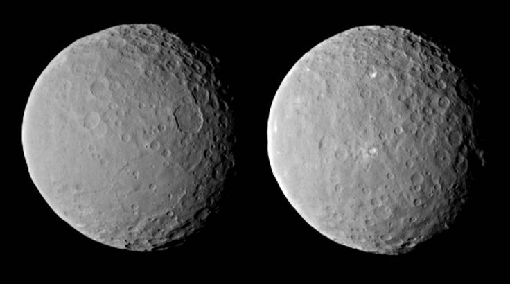 NASA picture of the asteroid Ceres, taken by the Dawn probe