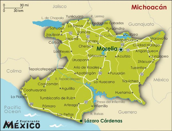 political map of mexico illustrates the country capital surrounding countries 31 states and their