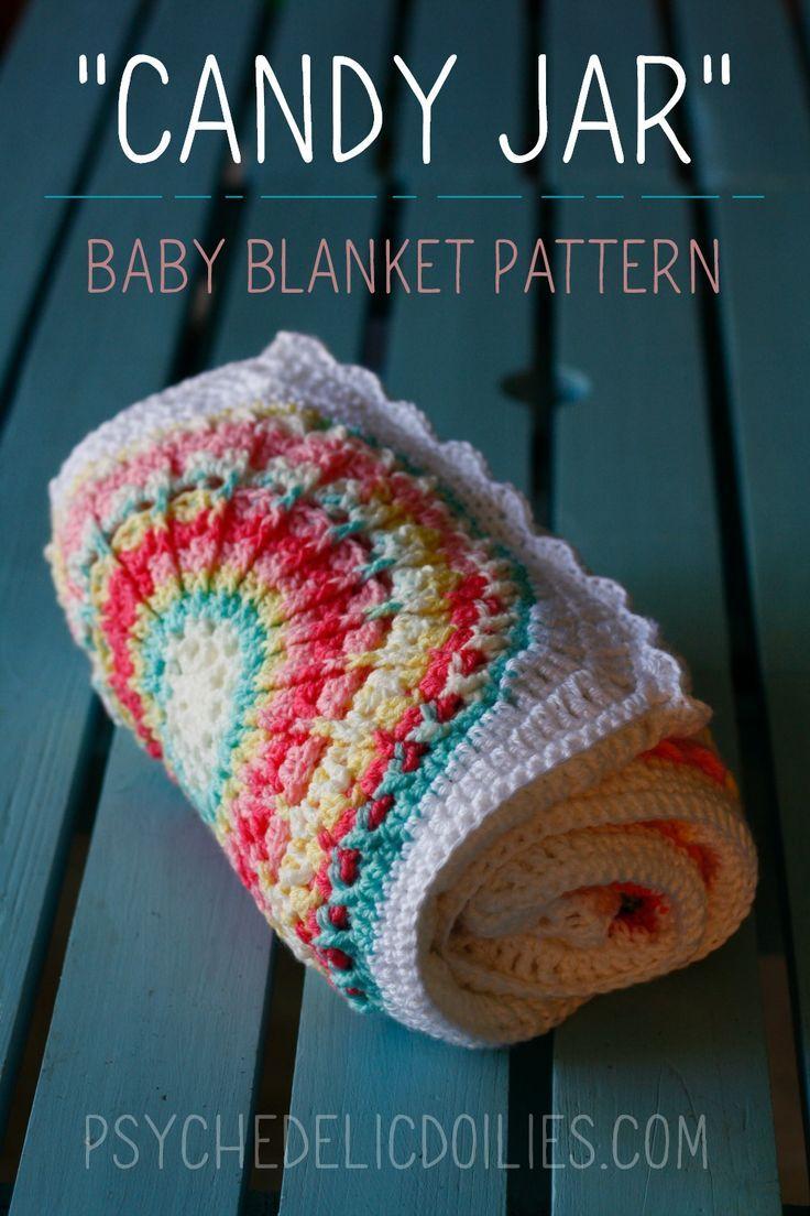 Mandala Squares Baby Blanket Crochet Pattern Psychedelic Doilies Baby Blanket Crochet Pattern Baby Blanket Crochet Crochet Blanket Patterns