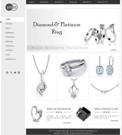 Template: a044 Clear and minimalist web design in white and black that lets your products stand out  Recommended for: Jewellery, Lifestyle Products, Clothes and Accessories