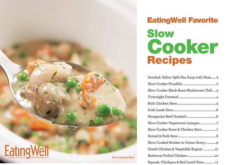 Get our Healthy Slow Cooker Recipes cookbook complete with beautiful photography and nutrition analysis for each recipe! It's easy to download and print! @EatingWell