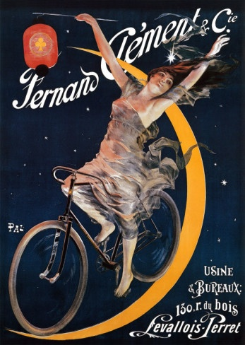 Happened upon vintage bicycle ads at The Museum of Industry and Art at St. Etienne, France...fell in love with them, but foolishly didn't buy any prints. :(