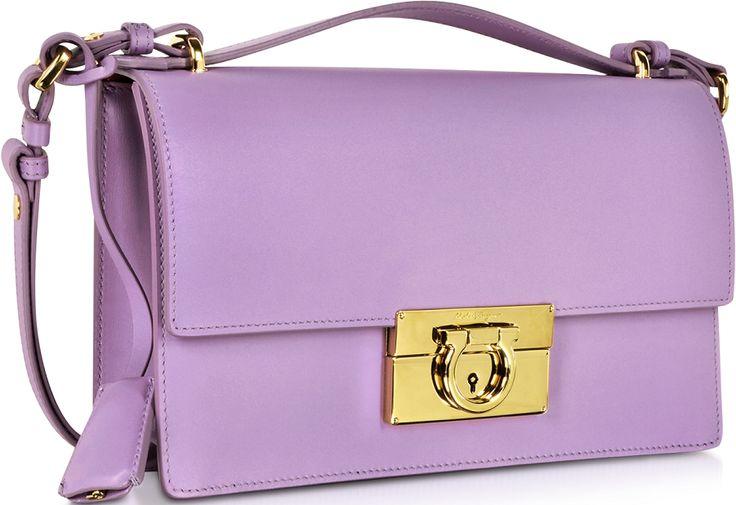 •Website: http://www.cuteandstylishbags.com/portfolio/salvatore-ferragamo-lilac-medium-aileen-leather-shoulder-bag/ •Bag: Salvatore Ferragamo Lilac Medium Aileen Leather Shoulder Bag