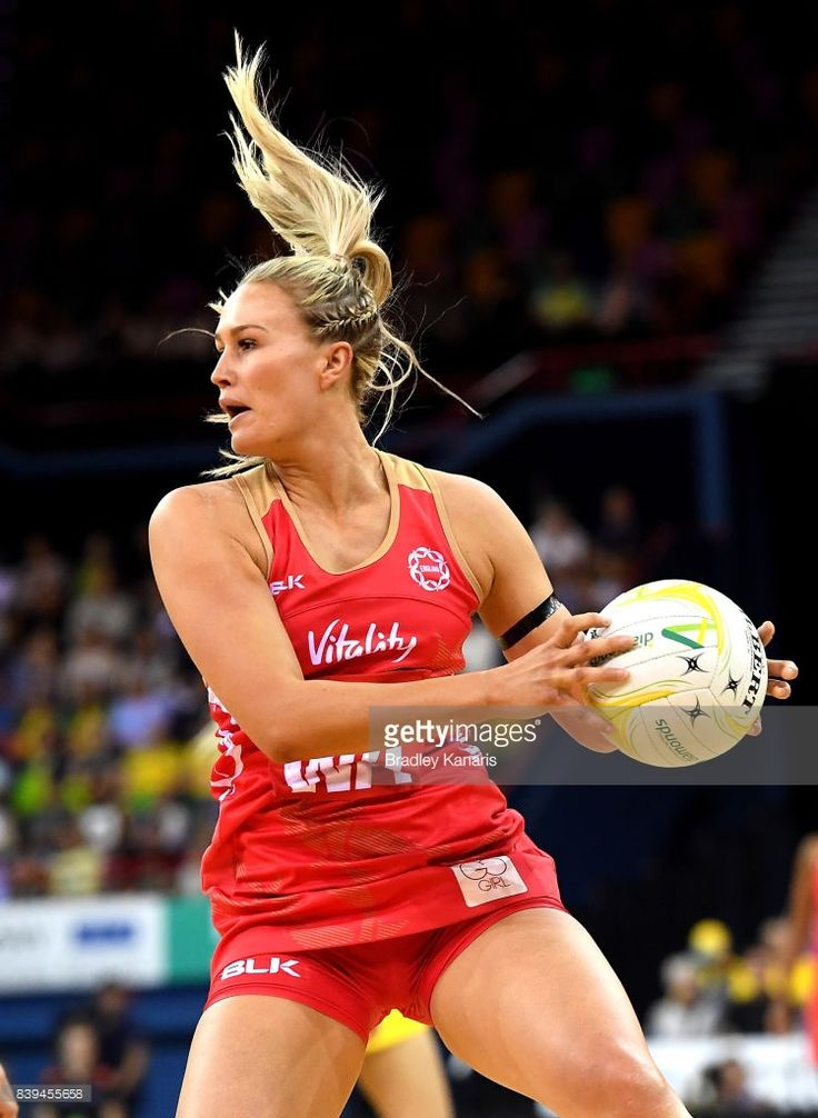 Chelsea Pitman of the Roses in action during the 2017 Netball Quad Series match between the Australian Diamonds and the England Roses at Brisbane Entertainment Centre on August 26, 2017 in Brisbane, Australia.
