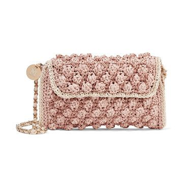 On SALE at 55% OFF! textured crochet-knit shoulder bag by M Missoni. M Missoni antique -rose and beige shoulder bag . Textured crochet -knit . Chain -trimmed shoulder strap . Designer to...