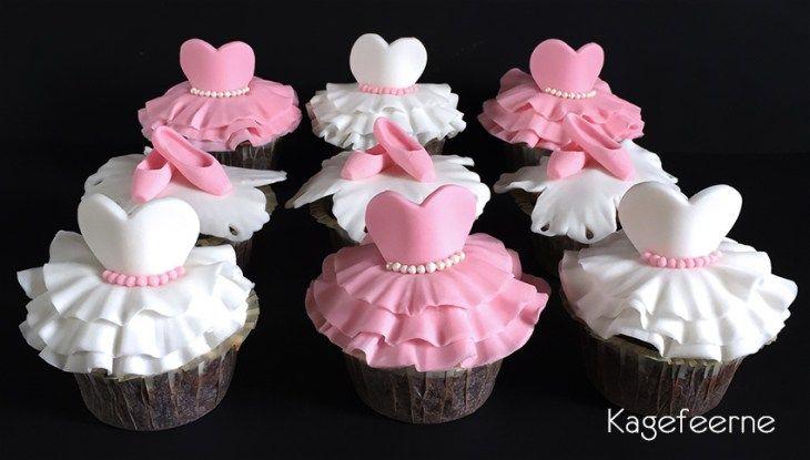 Ballet cupcakes - tutu og tåspidssko / pointshoes