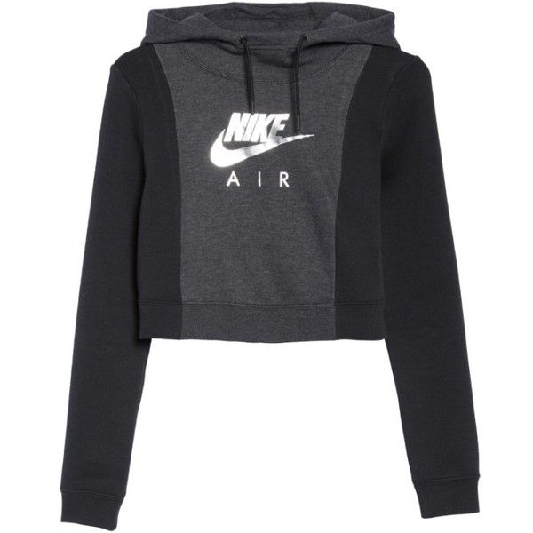 Women's Nike Air Rally Hoodie (230 ILS) ❤ liked on Polyvore featuring tops, hoodies, sweatshirt hoodies, cropped hoodie, nike, nike hoodie and cropped hooded sweatshirt