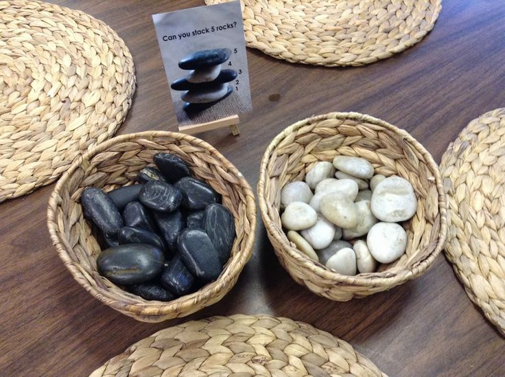 Can you stack 5 rocks? Reggio inspired approach to math -provocation at Mathematics and Science in School District #38 (Richmond) ≈≈