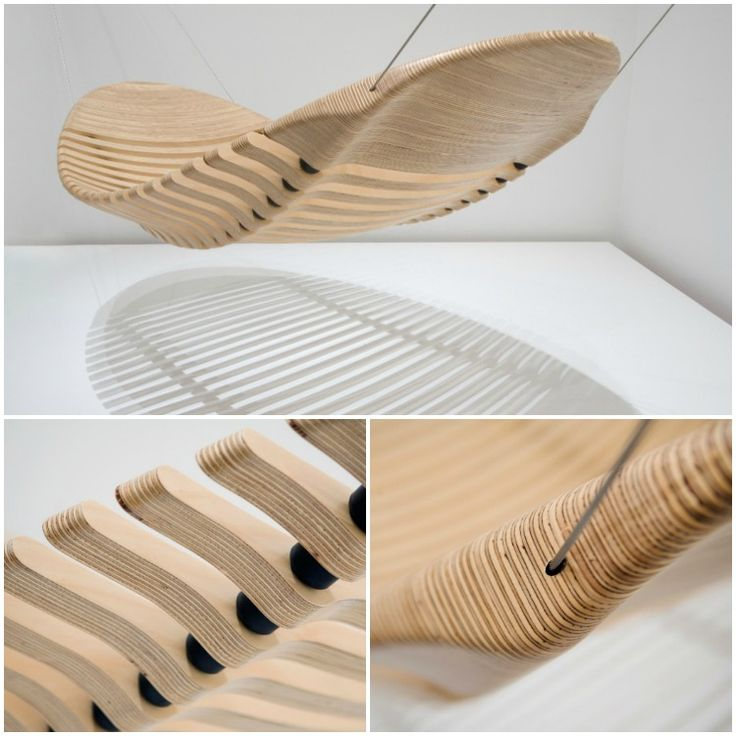 The Wooden Hammock was designed as an alternative to the common cloth hammock. Although made from wood, the design is flexible and comfortable due to the rubber vertebra which allows the wooden segments to move, mimicking the human spine. Manufactured from a standard sheet of plantation grown plywood, the design maximizes the economy of materials whilst minimizing the environmental foot print. The hammock has been designed to be produced from a wide range of sheet materials, including…