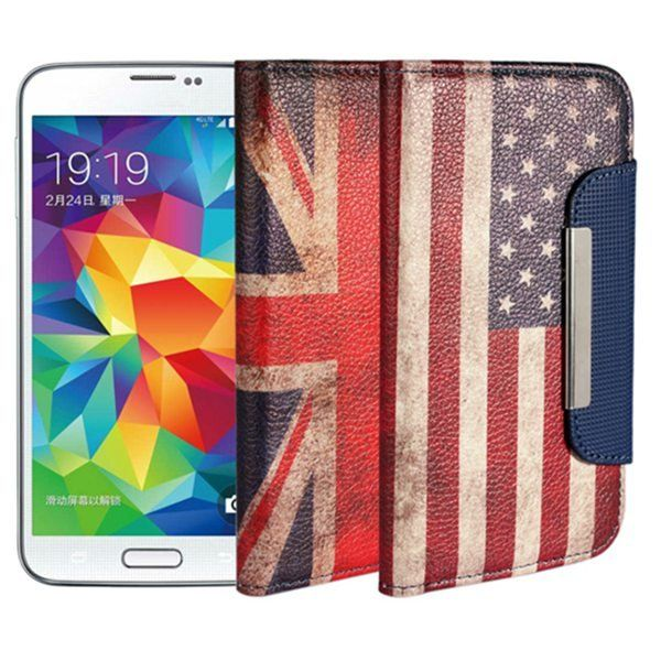 Magnetic Lock Leather Protective Case For Samsung Galaxy S5 i9600…