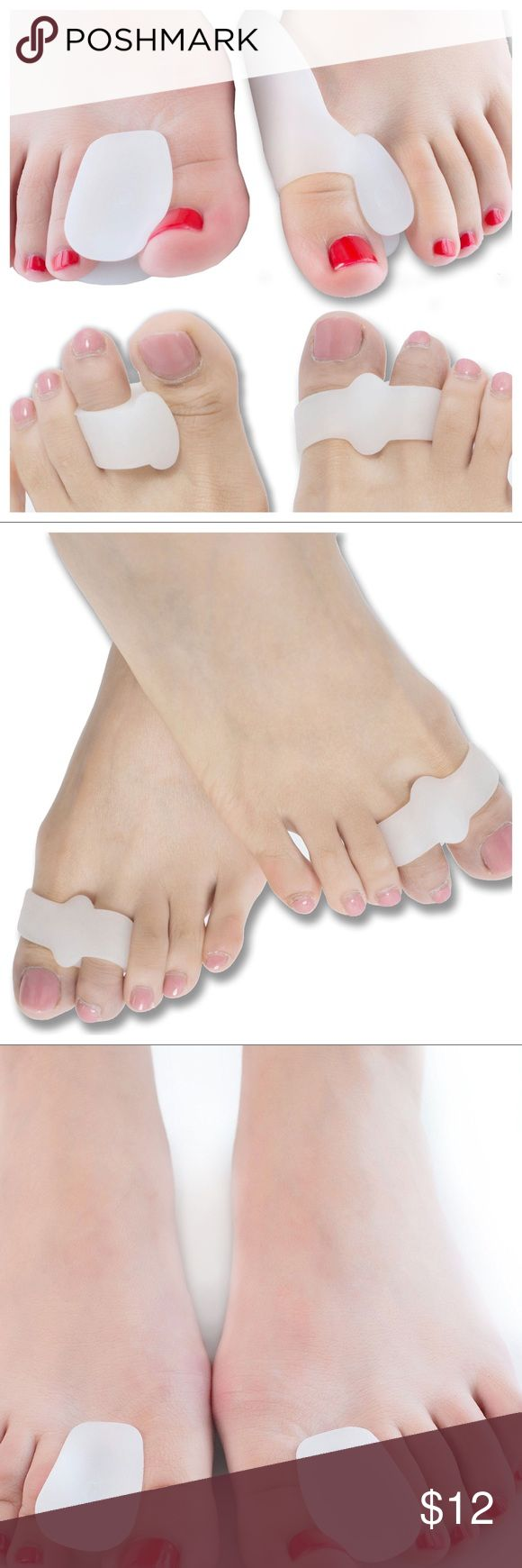 DR JK UNISEX NEW IN BOX SET OF 8 BUNION RELIEF! Bunion Relief, Toe Separators Kit- 8 Piece. Bunion Corrector, Hallux Valgus, Toe Straighteners. 4 Pairs of BunionPals for Men & Women, designed to cover all your activities in shoes & barefoot. Immediate Pain Relief Results & Prevent Surgical Treatment. Toe Separators & Bunion Pads increase the spacing between the big toe & 2nd toe for proper joint alignment, less irritation/friction. Made of stretchable soft medical grade gel. Easily cleaned…
