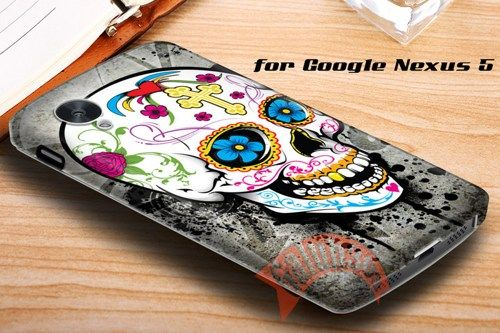 Grunge Sugar Skull Google Nexus 5 Case Cover | galuh303 - Accessories on ArtFire