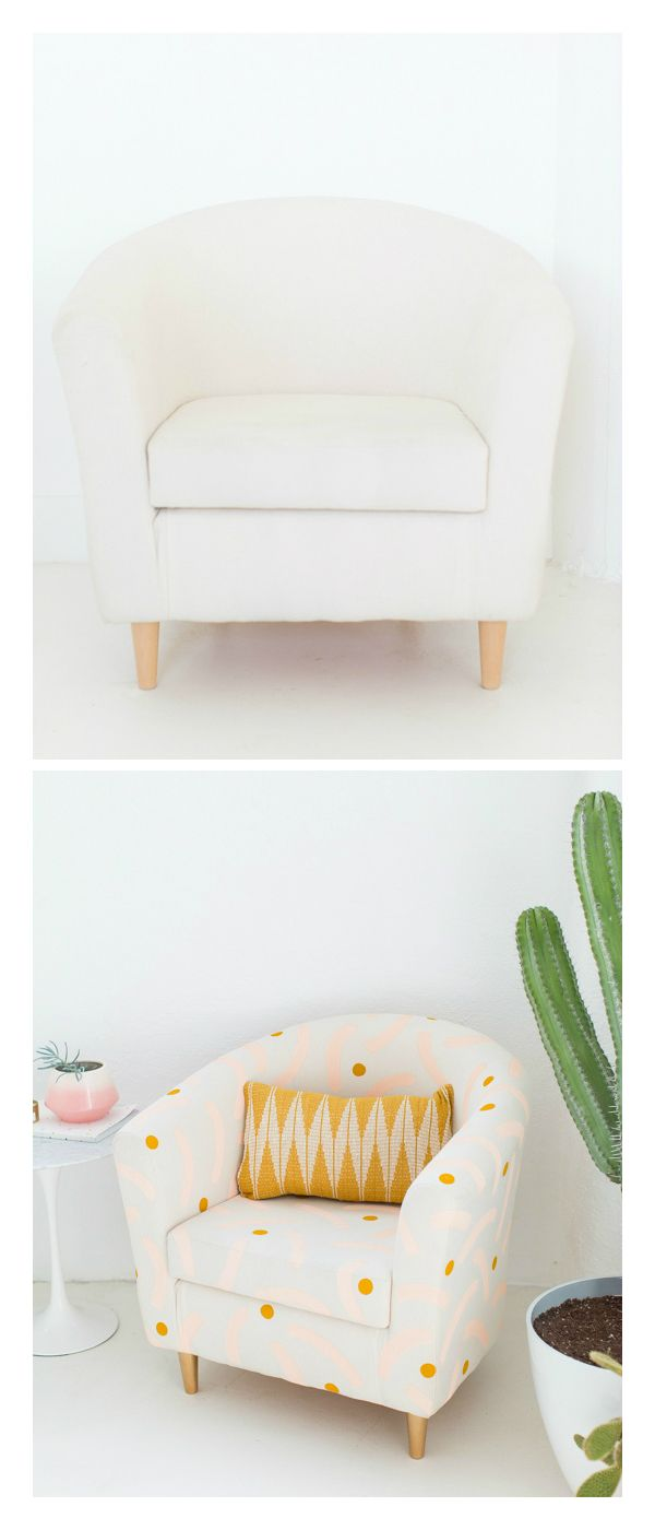 Use paint and get creative like @SugarAndCloth in this DIY IKEA chair project!