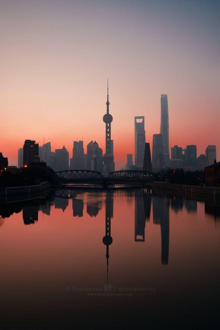 Silhouette Shanghai China Shanghai China Travel Visit Shanghai China City