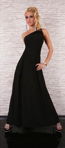 SEXY ONE SHOULDER Dlouhé dámské šaty, společenské šaty, plesové šaty
