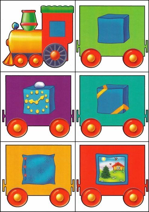 * Kleuren-vormen trein! 3-12