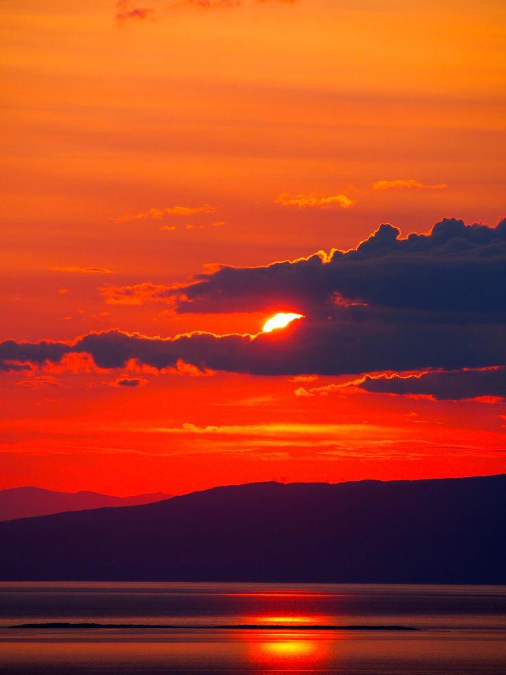 17 meilleures id es propos de peintures de coucher de - Lever et coucher du soleil est ouest ...