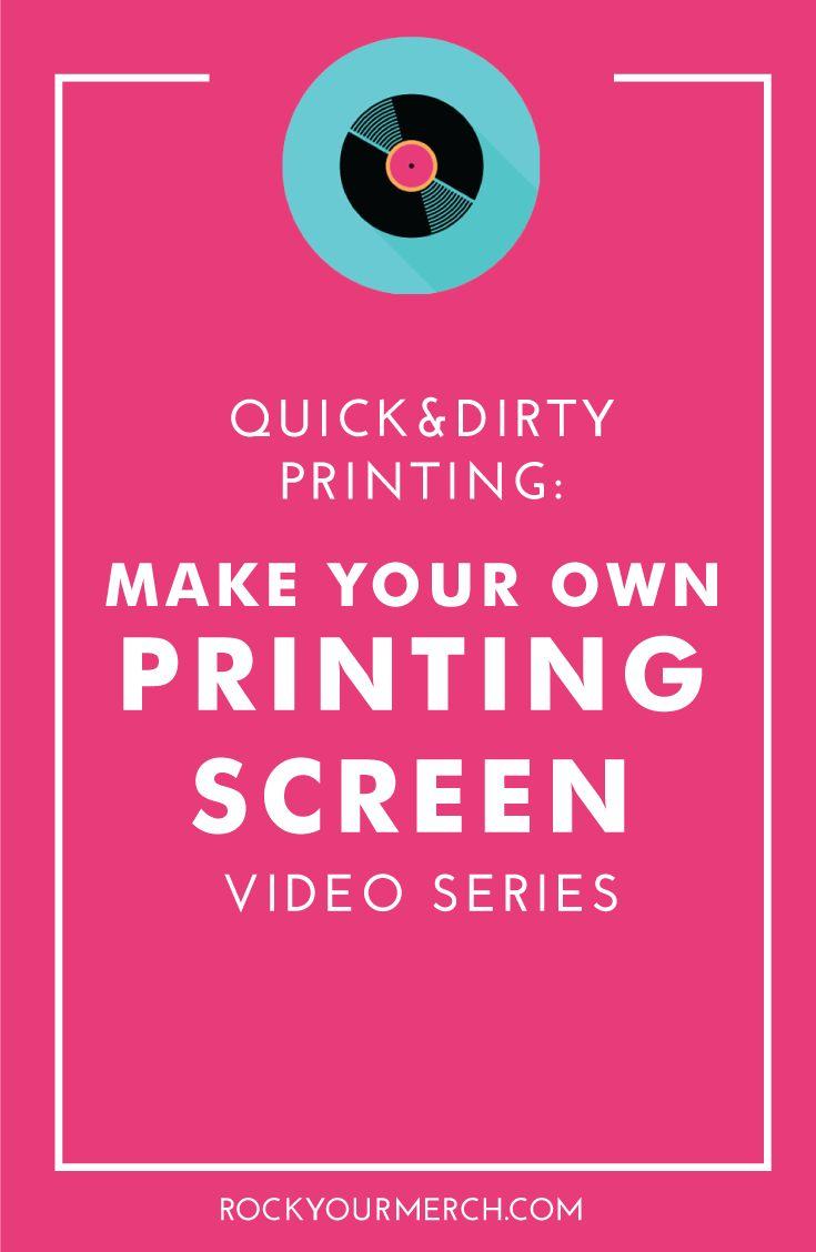 How To Make A Screen Print Shirt At Home | carrerasconfuturo com