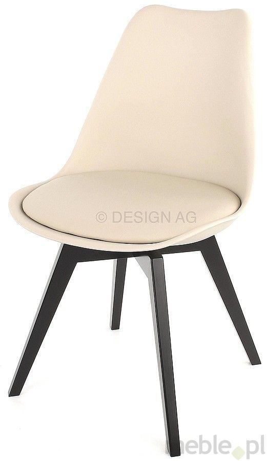 Tenzo Krzesło Gina Ciepło Szare Nogi Bess Drewniane Czarne - GinaBess-Sz-C, Tenzo - Meble