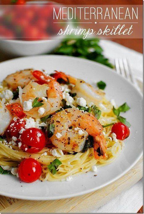 #Recipe / Mediterranean Shrimp Skillet | MBSIB:  The Man With The Golden Tongs | Scoop.it