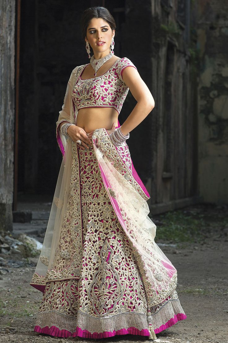 Pink lengha from the 2013 BenzerWorld collection