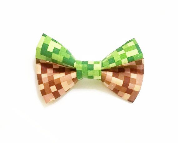 Minecraft Wedding Bow Tie, Gamer Wedding Inspiration, Groomsmen Ideas by GeekFashionSource