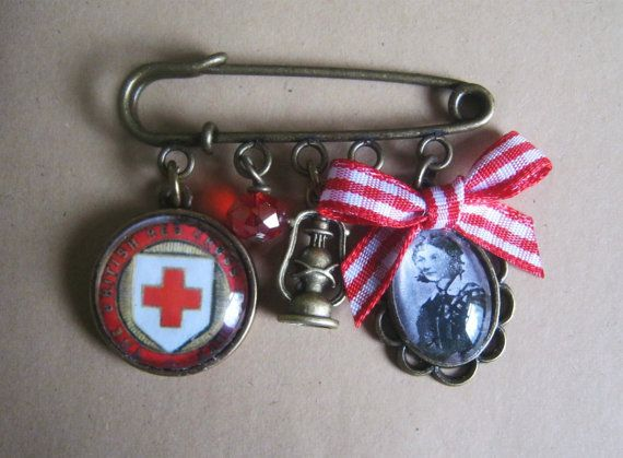 Vintage Florence Nightingale/ Red Cross by VeeAccessories on Etsy, £9.50