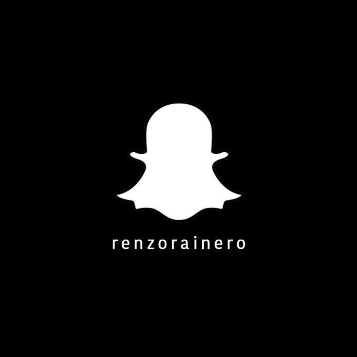 Seguinos en #Snapchat  renzorainero