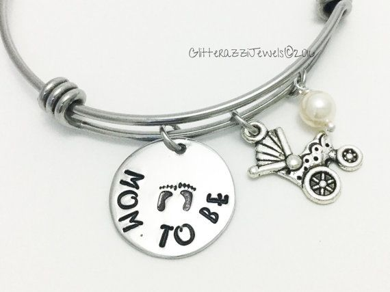 Expecting mom gift. New mom. Pregnant friend. Alex and Ani. Hand stamped baby feet jewelry. Expandable bangle. Mommy to be. New mom gift.