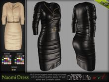 Naomi Midi Dress* Rigged Mesh (HUD Driven)  *DreamLife - FashionNatic*