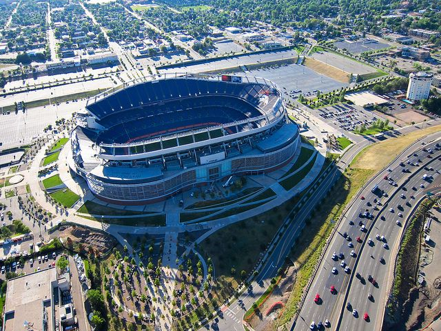 Mile High Stadium, Denver Broncos--done