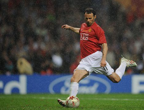 Ryan Giggs. Champions League final in Moscow