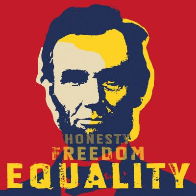 lincoln equality | Abraham Lincoln: Honesty, Freedom, Equality Kunstdrucke - bei ...