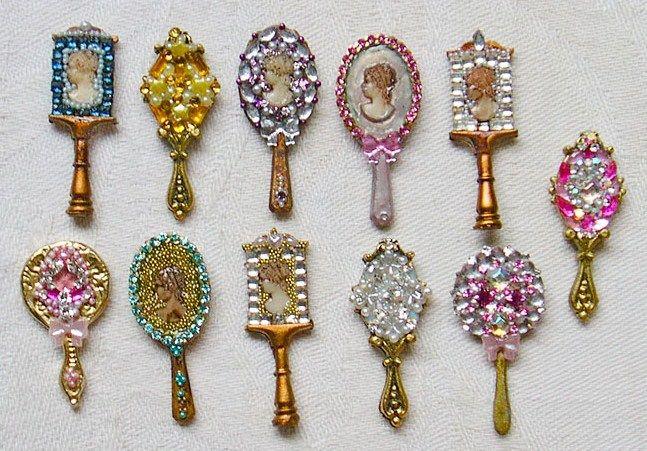 jeweled hand mirrors