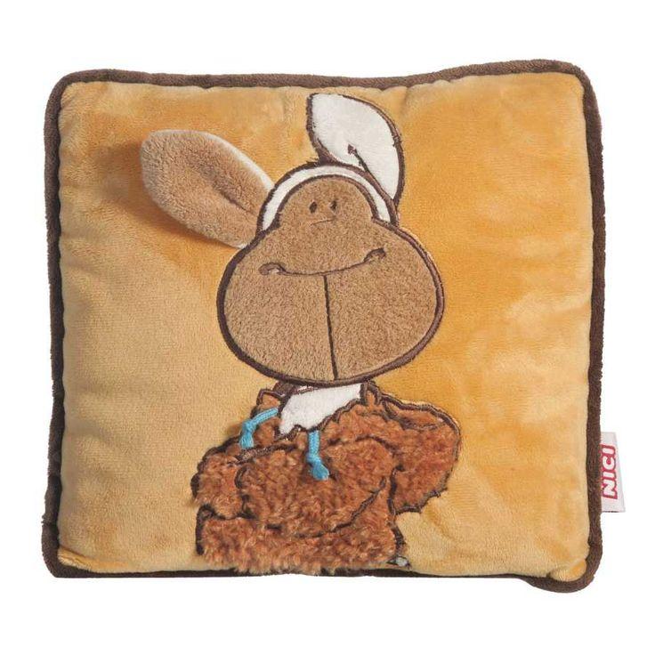 Nici peluches online. Cojín Nici con la oveja Jolly Mäh cuadrado de la colección Jolly Mäh. Suave detalles cuidados y original diseño. Medidas 25x25x9 cms.