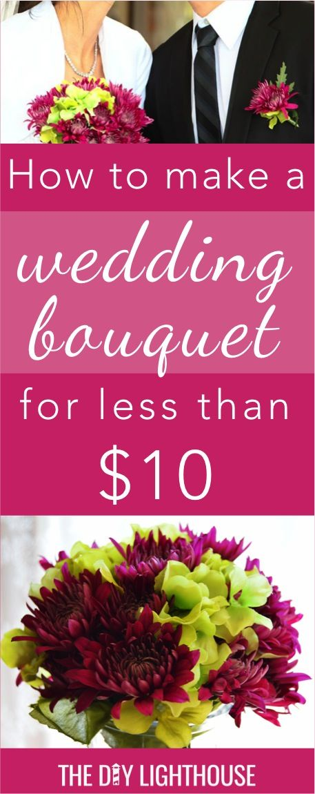 Cheap and easy DIY wedding bouquet | How to make a wedding bouquet for less than $10 | bridal tip and ideas for an inexpensive wedding | bride flowers on a budget