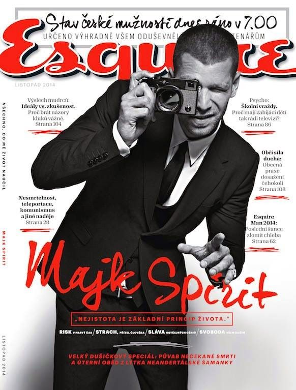 Majk Spirit en portada de Esquire República Checa
