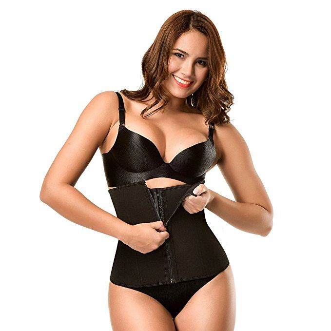 92e9b80803 Lover-Beauty Neoprene Sauna Underbust Waist Trainer Cincher with Zipper 3  Rows Hooks M Black
