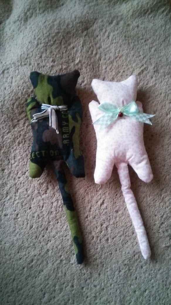 洗濯ばさみをが入った猫のぬいぐるみ柄、数に限りがあります。柄は早い者勝ち!!|ハンドメイド、手作り、手仕事品の通販・販売・購入ならCreema。